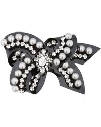 Shourouk - Bow Line Rose Pin - Lyst