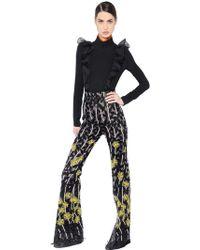 Giambattista Valli - Sable & Floral Macramé Tulle Jumpsuit - Lyst