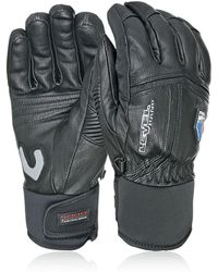 Level Off Piste Leather Ski Gloves - Black