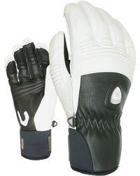 Level Off Piste Leather Ski Gloves - White