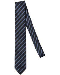 Salvatore Piccolo 7cm Silk Regimental Tie - Black