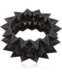 Vojd Studios Diamond Shaped Bangle Bracelet - Black