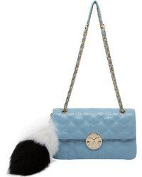 Metrocity F4e Limit.ed Leather Shoulder Bag - Blue