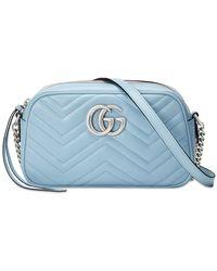 Gucci Bolso de hombro GG Marmont pequeño - Azul