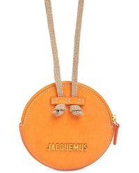 """Jacquemus Ledertasche """"le Pitchou"""" - Orange"""