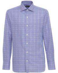 Tom Ford Рубашка Из Хлопка Price Of Wales - Синий