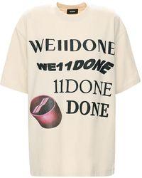 we11done Camiseta De Algodón Con Estampado - Multicolor