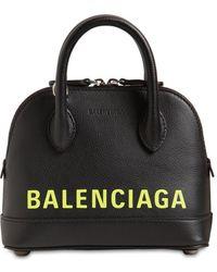 "Balenciaga Handtasche Aus Leder ""xxs Ville"" - Schwarz"