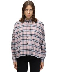 Étoile Isabel Marant Ilaria Ruffled Checked Cotton Shirt - Pink