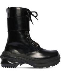 Maison Margiela Кожаные Ботинки-комбат 50mm - Черный