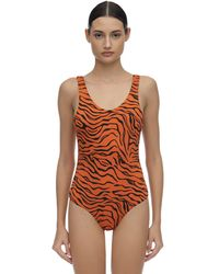 Reina Olga For A Rainy Day Tiger One Piece Swimsuit - Orange