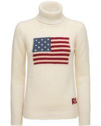 Ralph Lauren Collection Flag カシミアニットセーター - ナチュラル