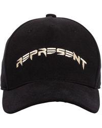 Represent Curve Logo Cotton Baseball Hat - Black