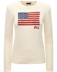 Polo Ralph Lauren American Flag インターシャコットンセーター - マルチカラー