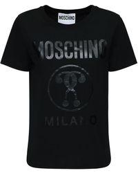 Moschino - コットンジャージースリムtシャツ - Lyst