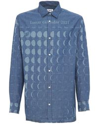 Loewe Paula Moon Calendar コットンシャツ - ブルー
