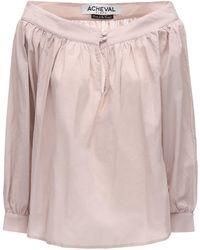 Acheval Pampa Desnuda コットンボイルシャツ - ピンク