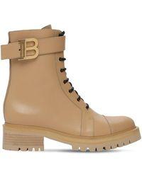 Balmain Кожаные Ботинки-комбат 25mm - Естественный