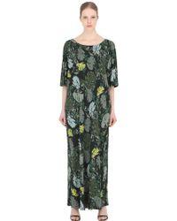 Larusmiani Leaves Printed Viscose Jersey Dress