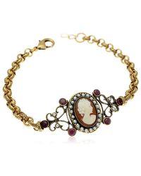 Alcozer & J Cameo Chain Bracelet - Metallic