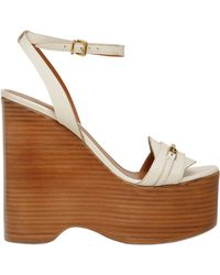 Bally 140mm Climmy Leather Wedges - White