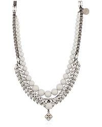 Ellen Conde Swarovski Pendant Necklace - Metallic