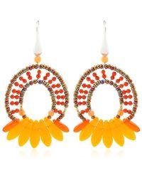Ziio Mistinguett Beaded Earrings - Orange