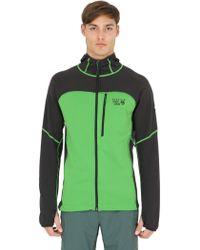 Mountain Hardwear Desna Grid Hooded Nylon Fleece Jacket - Green