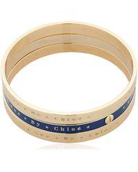See By Chloé Set Of 3 Bangle Bracelets - Blue