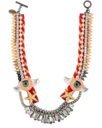 Venna - Winged Eyes Swarovski Crystal Necklace - Lyst