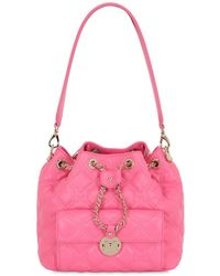 Metrocity Small Quilted Leather Bucket Bag - Pink