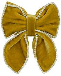 ANOUKI July Embellished Silk & Rayon Hair Bow - Yellow