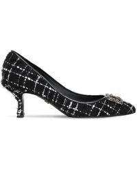 Dolce & Gabbana ツイードパンプス 60mm - ブラック