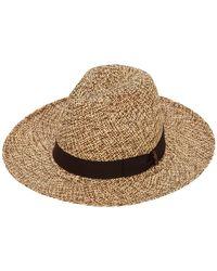 Borsalino Sombrero Panamá De Paja Entretejida - Multicolor