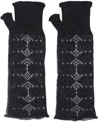 Saint Laurent Mohair & Wool Gloves - Black