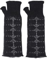 Saint Laurent Mohair & Wool Gloves - Black