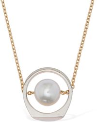 Maison Margiela Chain Necklace W/ Imitation Pearls - Multicolour