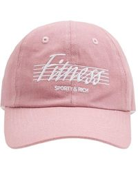 """Sporty & Rich Lvr Exclusive - Casquette """"fitness"""" - Rose"""