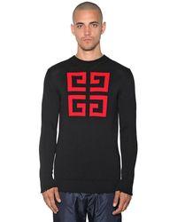 Givenchy Pullover Aus Baumwolle Mit 4g-logointarsie - Schwarz