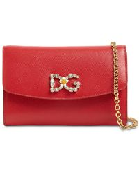 Dolce & Gabbana Dauphine エンボスレザーバッグ - レッド