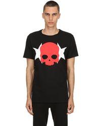 Hydrogen Skull & Stars コットンジャージーtシャツ - レッド