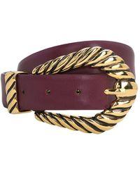 Alberta Ferretti 30mm Leather Belt - Purple
