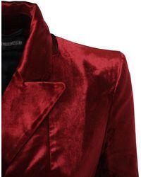 Ann Demeulemeester Cotton Blend One Breast Blazer Jacket - Red