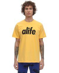 Alife Core Logo Cotton Jersey T-shirt - Yellow