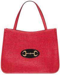 Gucci Сумка-тоут 1955 Horsebit - Красный