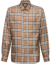 Burberry Sandcroft シルクシャツ - ブラウン