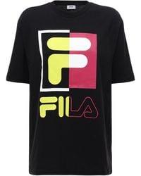 Fila T-shirt Aus Baumwolle Mit Logodruck - Schwarz