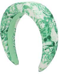 Ganni Bedruckter Haarreif Aus Nylon - Grün