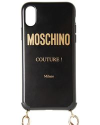 Moschino Iphone X/xs-cover Mit Logodruck - Schwarz