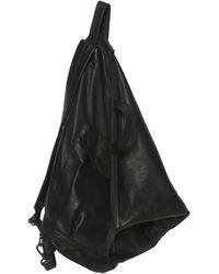 Yohji Yamamoto Triangular Leather Backpack - Black